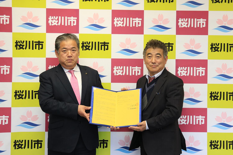 桜川市と「災害時における電子関連物品等の供給に関する協定」を締結 イメージ1