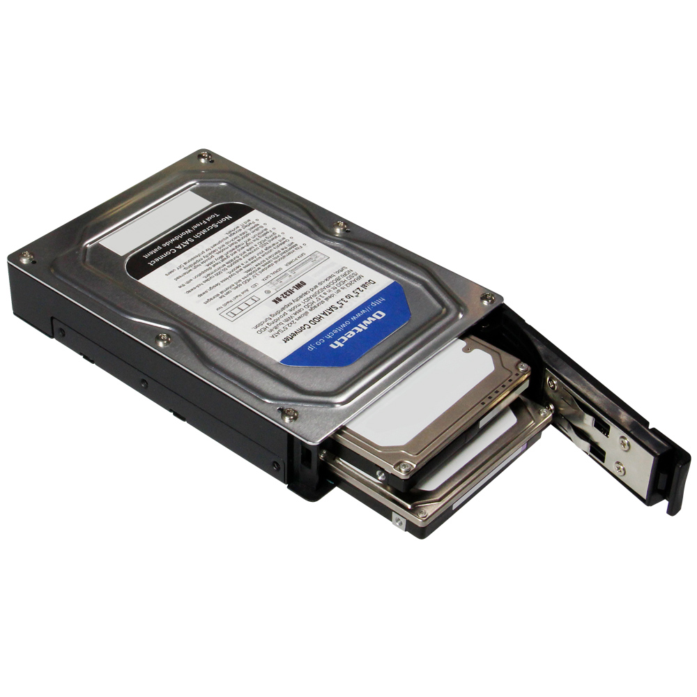 2.5インチ HDD/SSD 2台対応 3.5インチHDDサイズ RAID機能搭載 HDDケース OWL-IE32
